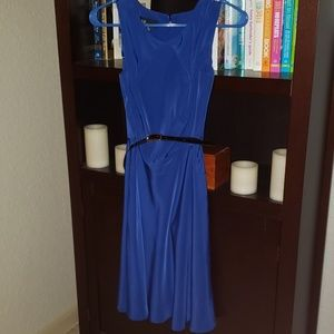 Women's blue dress